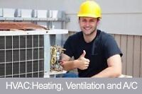 Service and installation of heating cooling plumbing
