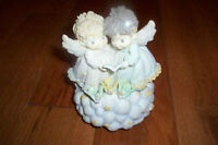 'Precious Moments' Angels On A Cloud Musical Statue **OBO**