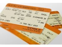 Liverpool to Glasgow 2 single tickets