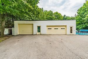 GARAGE/WORKSHOP WITH BRICK HOUSE ON 1 ACRE