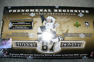 BRAND NEW SIDNEY CROSBY BOXED UPPER DECK HOCKEY CARD SET