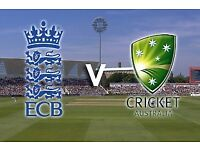 England v Australia x 4 block A 24th June old trafford £60 each.