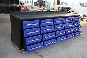 New 20 Drawer Tool Box 10 BLUE Model Bench Storage Work Garage