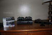 XBOX 360 ELITE - 2 CONTROLLERS, KINECT, LOTS OF GAMES + DLC!