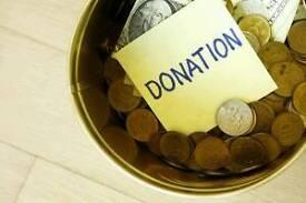Bucket fundraisers needed