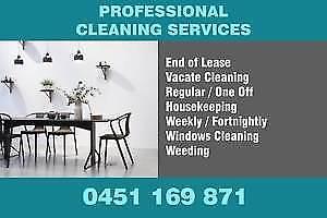 END OF LEASE / VACATE / CARPET CLEANING / HOUSEKEEPING / WEEDING