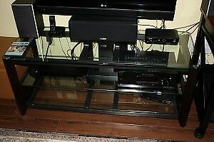 TV stand, Sony Audio / Video receiver and speakers