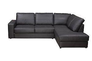 Leather Corner Sofa EBay - Black leather corner sofa