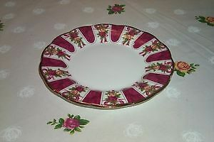 "Royal Albert Old Country Rose Red Damask 8"" Plate"
