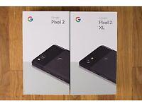 GOOGLE PIXEL 2 XL 128GB BLACK BRAND NEW COMES WITH GOOGLE WARRANTY & RECEIPT