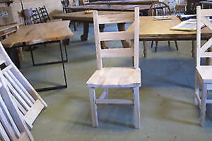 Mennonite Made Rustic Ladder Back Chairs