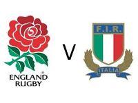 2 x England v Italy Six Nations at Twickenham 26th Feb (Tickets in hand)