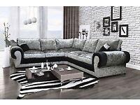 New Ashley crushed velvet jumbo corner couch