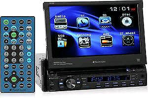 Planet audio radio with slide out touch screen