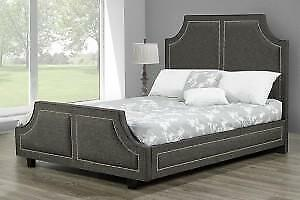 Upholstered Custom made Queen Platform Bed (TI32)