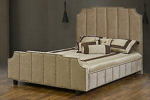 High back custom made Queen Bed (TI26)