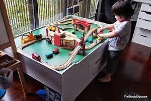 Melissa and Doug Train Table and Set - including Roundhouse