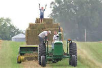 HELP WANTED Unloading Hay Pays $15 per Hour