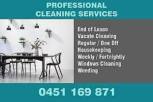 END OF LEASE / VACATE / CARPET CLEANING / HOUSEKEEPING / WEEDING