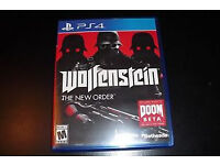 Wolfenstein The New Order (PS4 Game) Immaculate Condition Can Deliver Locally