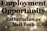 Looking for Aesthetician or Nail Tech!