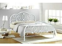 New white abbey strong metal 4ft6 double bed £129 IN STOCK NOW last one
