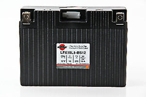 LITHIUM SHORAI BATTERY FOR MOTORCYCLES AND ATVS LFX18L1-BS12