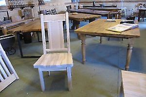Mennonite Made Live Edge Seat Chairs