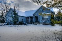 4 bed, 3 full bath custom built bungalow on 1.2 acre in Hesson