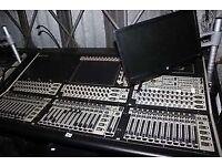 Digico SD8 digital mixer, includes a custom mixing desk trolley.