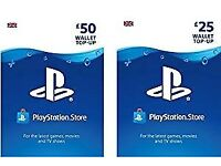 PlayStation PSN Card 75 GBP Wallet Top Up   PSN Download Code - UK account ! price stands !