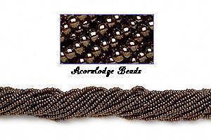 ALSB23 CZECH 11/0 Seed Beads-IRIS METALLIC COPPER-HANK