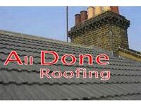 Roof Repairs - most jobs under £160 Slates,Tiles, chimneys, gutters, flat roof repair