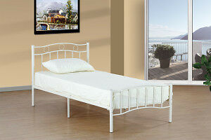 TWIN/DOUBLE METAL PLATFORM BED ON SALE NOW