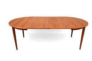 Mid Century Dining Table EBay - Glass top mid century dining table