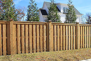 Fence/posts -  available this week to install - free estimates