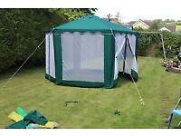 Green Canvas 4m Hexagonal Gazebo