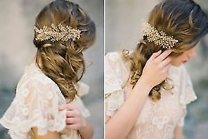 Gold Comb and a Headband. Perfect for Weddding or Photoshoot