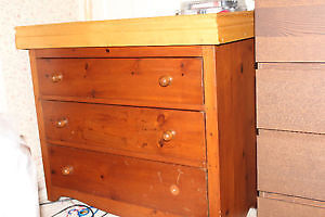 Dresser with change table top