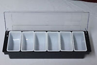 Bar Condiment Holder 6 compartment