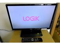 "24"" Logik L24HE14 LED TV FREEVIEW with Built-in DVD Player"
