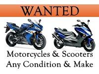 Motorbikes wanted for cash