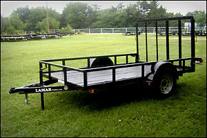New 10' Utility trailer with ramps