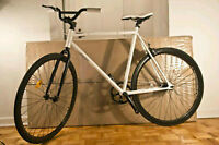 Brand New Fixed Gear Bike White Frame and Black Wheels -FIXIE