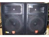 Recently Services PA JBL speakers (JRX 100) * 2