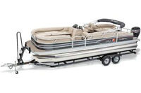 2015 SUN TRACKER PARTY BARGE 24 DLX Boat w/ 90 ELPT FourStroke