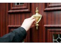 Door to door canvassers and Harkers
