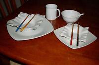 Set de vaisselle blanc 6 pcs.... 4 couverts....