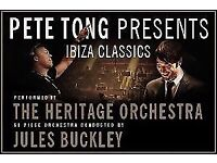 2 standing tickets to pete tong and the heritage orchestra at SSE Hydro glasgow 13/12/17