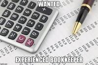 ORGANIZED BOOKKEEPER WANTED *URGENT! F/T & P/T